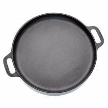 Gusseisen Pizza Pan-14inch Bratpfanne zum Kochen, Backen, langlebiges Kochgeschirr