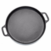 Cast Iron Pizza Pan-14inch Skillet for Cooking, Baking,Durable cookware
