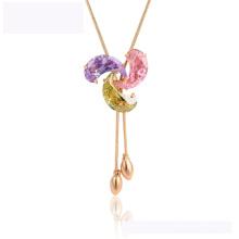 44850 Dernier collier de mode xuping design élégant collier en or 18 carats avec diamant de couleur