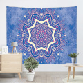 Bohemian Tapestry Mandala Wall Hanging Indian Style Boho Psychedelic Tapestry for Livingroom Bedroom Home Dorm Decor Blue