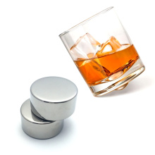 Whiskey Stones-2 Pcs Stainless Steel Ice Cubes