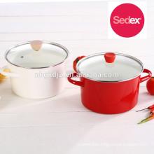 enamel pot carbon steel enamel high stock pan cookware set