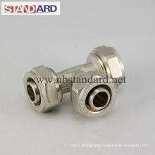 Brass Compression Fitting with Equal Tee