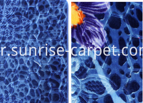 embossing with flower design carpet