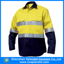 Wholesale Work Uniform Two Tone Reflective Tape Hi Vis Shirt