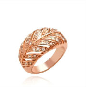 Fancy Unique Design Leaves Gold Rings Jewelry