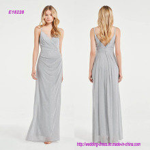 Luxurious Sparkle Flattering Draped Bridesmaid Dress