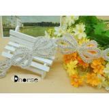 Handmade Bow Design Bling Bling Decorative Rhinestone Beade
