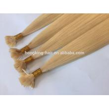 Cheveux de Remy Humains Indiens Double Drawn 10-28inch # 24 Kératine Colle Extensions de Cheveux de Pointe Plat