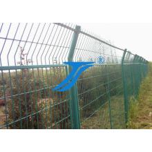 Valla de seguridad de valla de malla de alambre soldado con autógena del PVC