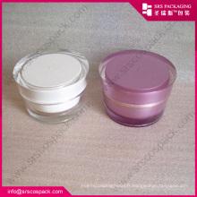 Pince cosmétique acrylique fanshion, pot rond en acrylique