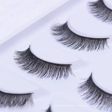 Natural Black Artificial Makeup Silk False Eyelash For Eye Beauty