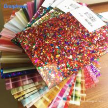 Custom Cutting 1mm acrylic sheet with glitter