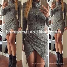 2016 dernières Plus la taille des femmes robe manches longues automne dames portent des robes de soirée ajustées slim