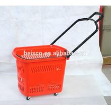 Best-seller cesto empilhável com quatro rodas