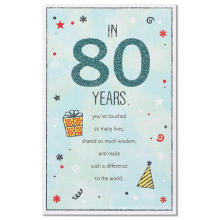 American Greetings Old Man 80. Geburtstagskarte mit Glitter Glitter Card