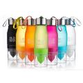 Botella de agua del limón de la fruta del envío libre botella de los deportes de la infusión del agua del agua del multicolor H2O 650ml