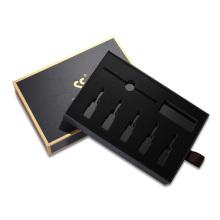 emballage de boîte de tiroir coulissant en papier kraft noir cosmétique