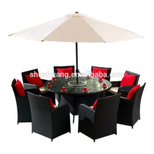 garden furniture round table with 8 person wicker dining chair metal rattan chair