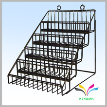 Free Standing Design Know Down Metal Granite Display Rack for Shopping