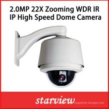 2.0MP IP PTZ 22X zoom de red de alta velocidad domo cámara IP
