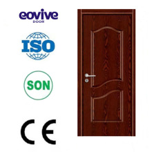 high glossy humidity-proof interior melamine wooden door with wooden frame