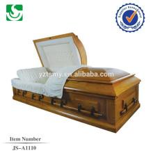 En gros cercueil en bois de style européen