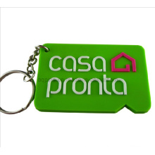 Professional Manufacturer Green Color Soft PVC Key Chain (KC-03)