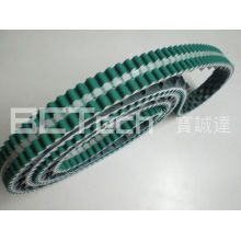 PU timing belt with guide belt - transparent