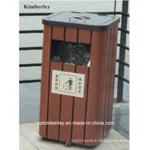 Boîte à ordures en plastique en bois à protection environnementale WPC