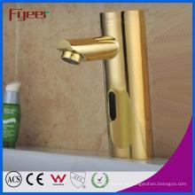 Fyeer Luxury Gold plateó el grifo de sensor automático de solo frío (QH0106G)