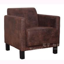 Tela home do poliéster do couro da camurça de matéria têxtil para o sofá home