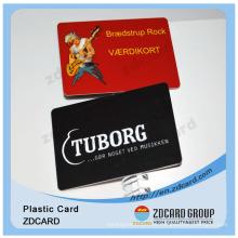 Cartão em branco de tamanho de cartão de crédito em PVC