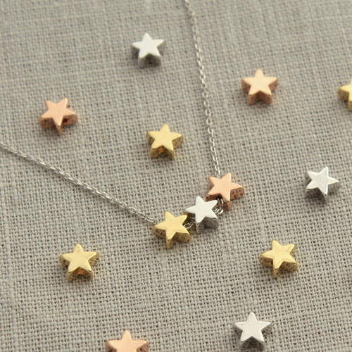 Three Star Necklace Pendant