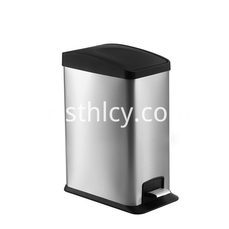 Rectangular Stainless Steel Waste Bin