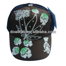 rhinestone and embroidery mesh cap for children made in china