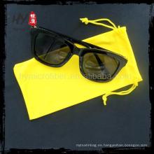 bolso de microfibra con cordón pequeño, bolsa de gafas de sol de microfibra, bolsa de gafas de gamuza