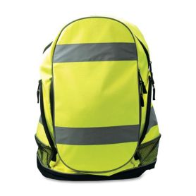 Hi Vis Amarillo Advertencia Seguridad Reflectante Mochila