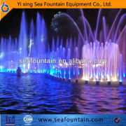 led light musical floating large outdoor fountain