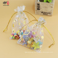 Cheap organza bags with hot stamping gold