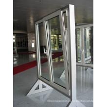 Alumínio de alta qualidade Tilt & Turn Low E Janelas verticais de vidro duplo