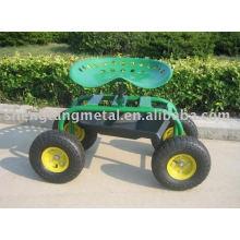 carrinho de assento de jardim