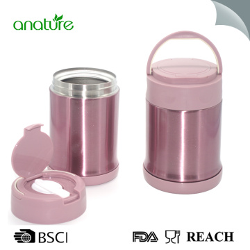 Reliable Supplier for Double Wall Vacuum Insulated Food Jar Thermos 16 Ounce Food Jar With Folding Spoon export to Gambia Exporter