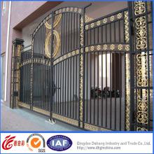 Porte d'entrée en fer forgé de haut niveau