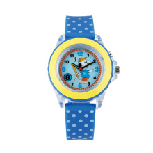Transparent plastic case education Arabic number dial  kid's gift watch