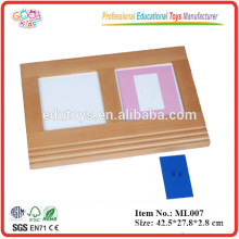 Montessori Language Learning - Metal Insets Tracing Tray