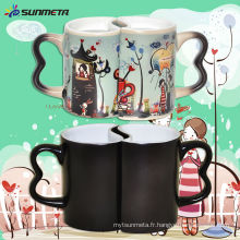 Sublimation Magic Couple Color Changing Mug à bas prix Wholsale