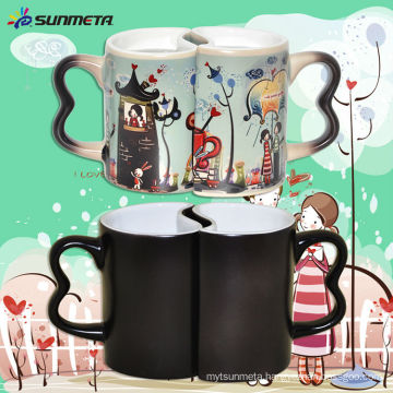 Sublimation Magic Couple Color Changing Mug At Low Price Wholsale