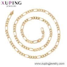 44754 Xuping Atacado jóias 18k banhado a ouro colares simples cadeia de estilo