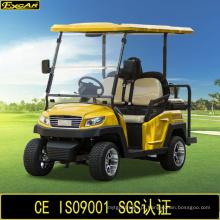China carrinho de golfe elétrico de 4 lugares com banco traseiro do flip-flop